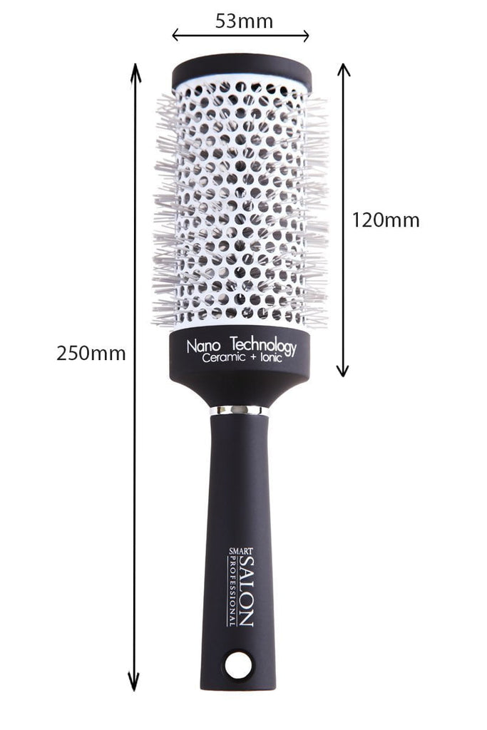 Round Ceramic Blow Dry Brush - (Large) - Ideal For Long/Thick Hair Styles. 53mm Diameter.