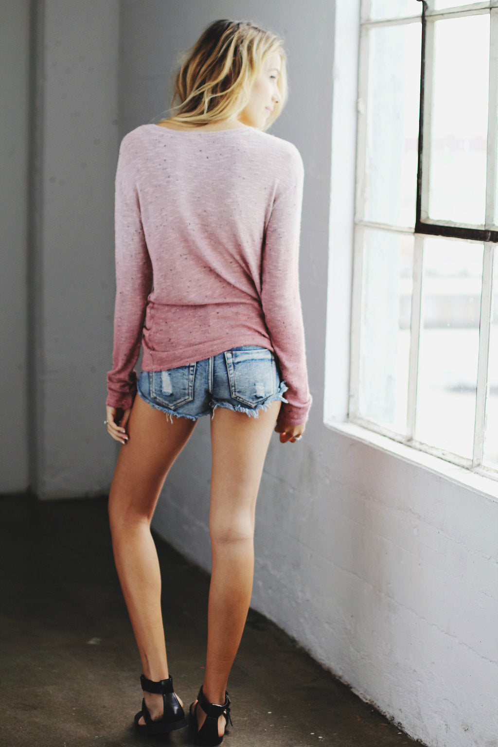 Pepper Sweater Pullover / Dusty Rose Ombre