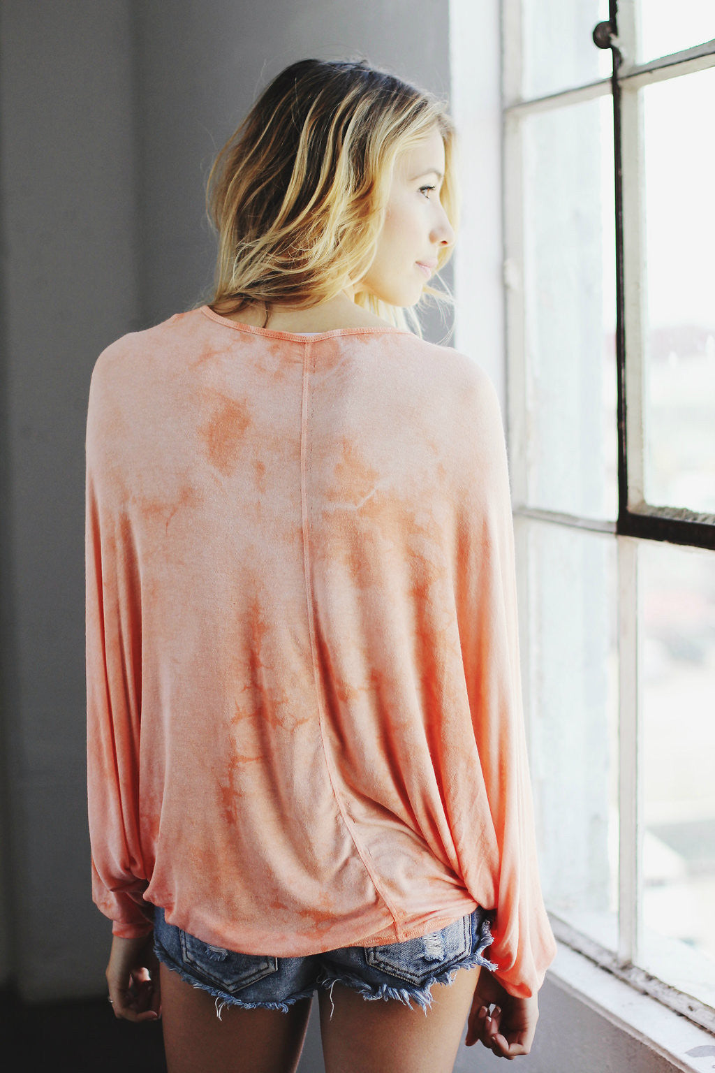 Draped Dolman / Peach Tea
