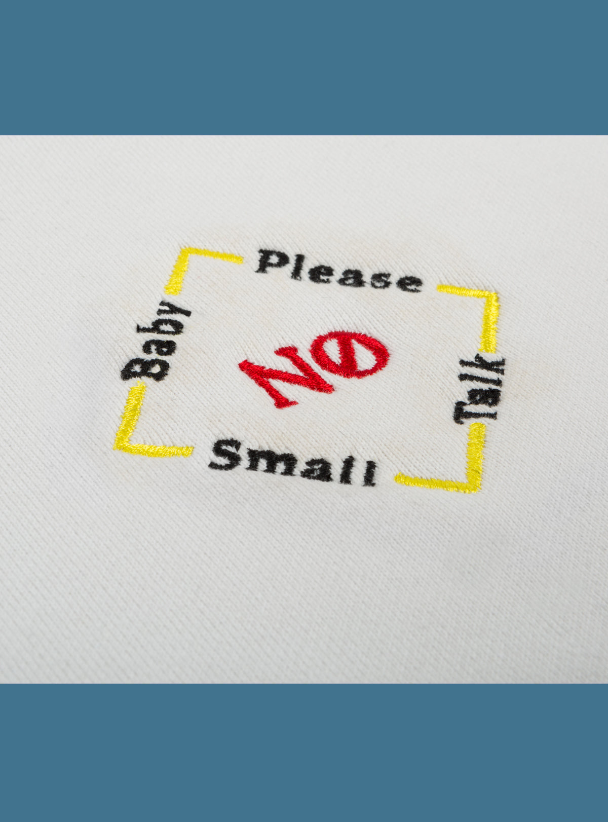 No Small Talk Baby Tee