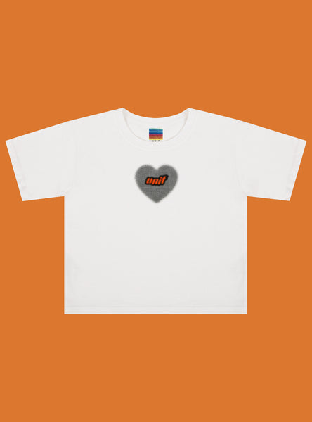 Heart Halftone Baby Tee by Unif
