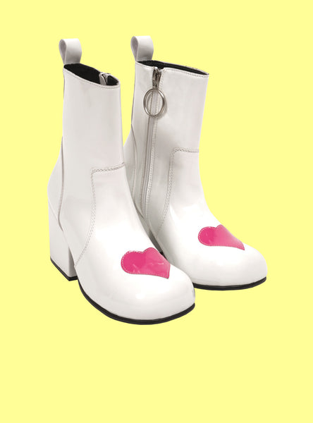 Wear your heart on your feet in the UNIF Moxie Heart boot.