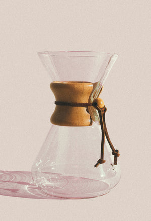 10-cup Wood Collar Chemex Coffeemaker