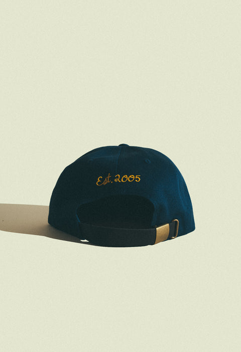 Jaguar Dad Hat in Navy Gold – Blanchards 496990ae7e2