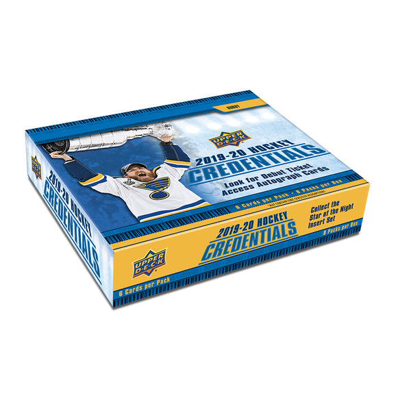 2019/20 UD Credentials Hockey Hobby Box