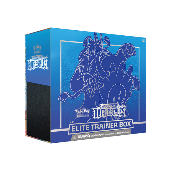 Pokemon Sword & Shield: Battle Styles Elite Trainer Box Blue
