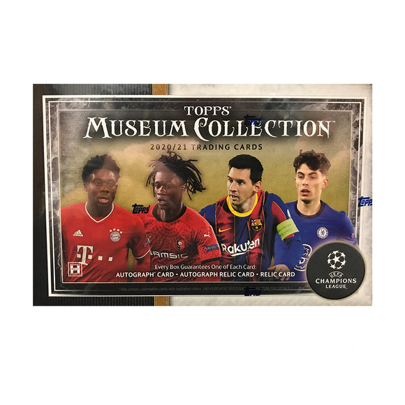 2020/21 Topps Museum Collection Soccer Hobby Box
