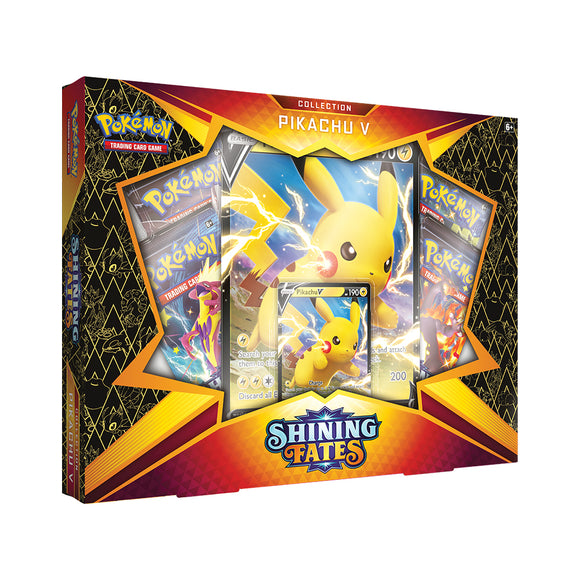 Pokemon Shining Fates Pikachu V Box