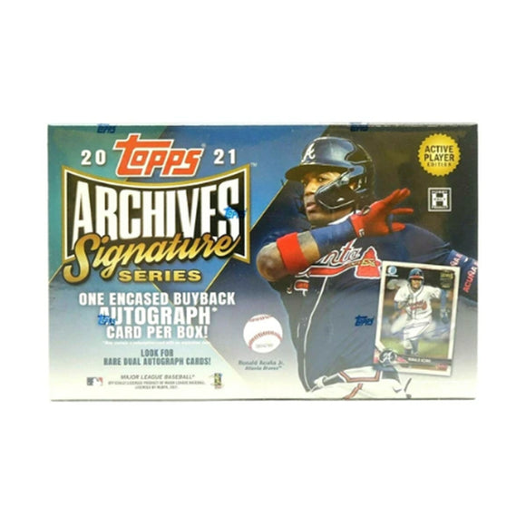 2021 Topps Archives Signature Series Baseball Box - Active Player Edition