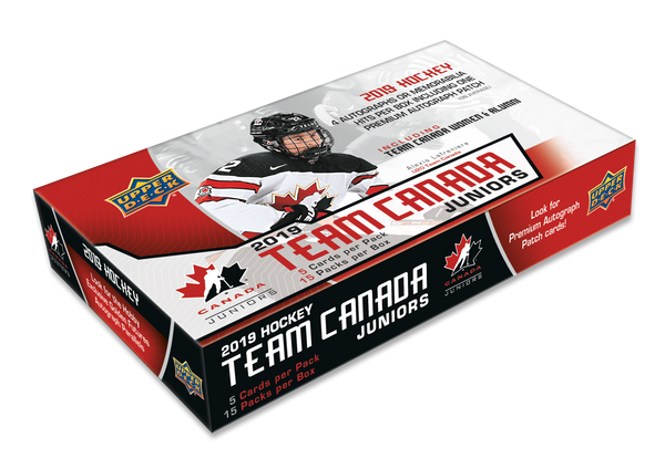 2019 UD Team Canada World Jrs. Hockey Hobby Box