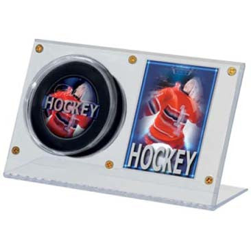 Ultra Pro Acrylic Puck And Card Holder - DM Sports