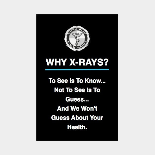 Gonstead Xray Poster