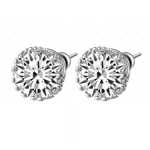 Stud Earrings Crystal Multi Prong 8mm Diamond Small Fashion Jewelry