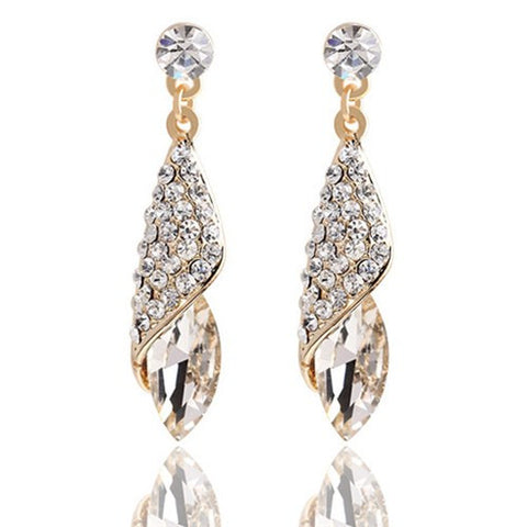 Clear Gold Plated Earrings