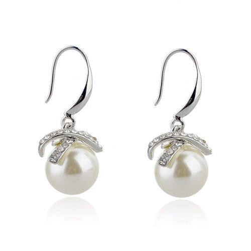 Pearl Drop Gold Plated Earrings