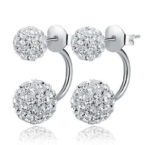 Disco Ball Silver Stud Earrings