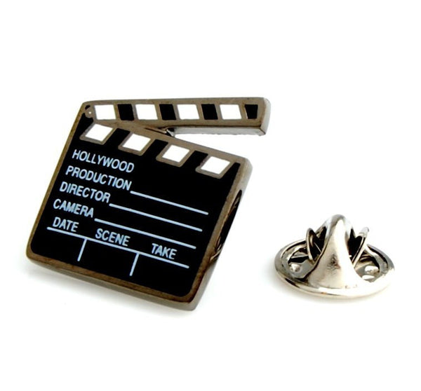 Clapperboard Lapel Pin