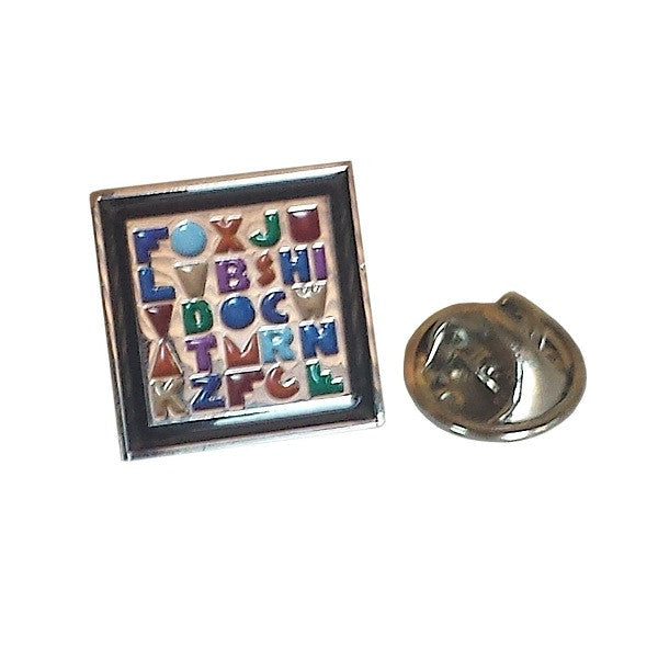 Alphabet Teacher Lapel Pin