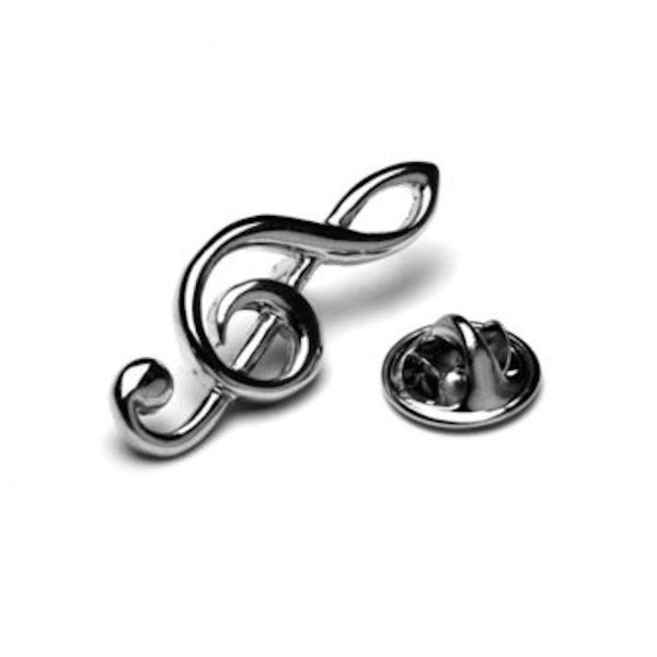 Music Note Lapel Pin Tack Tie