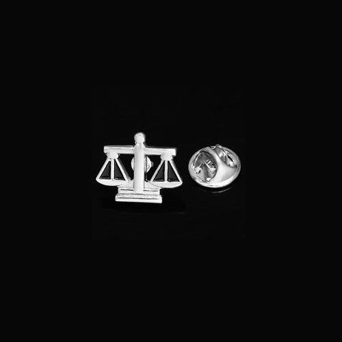 Scale Of Justice Lapel Pin