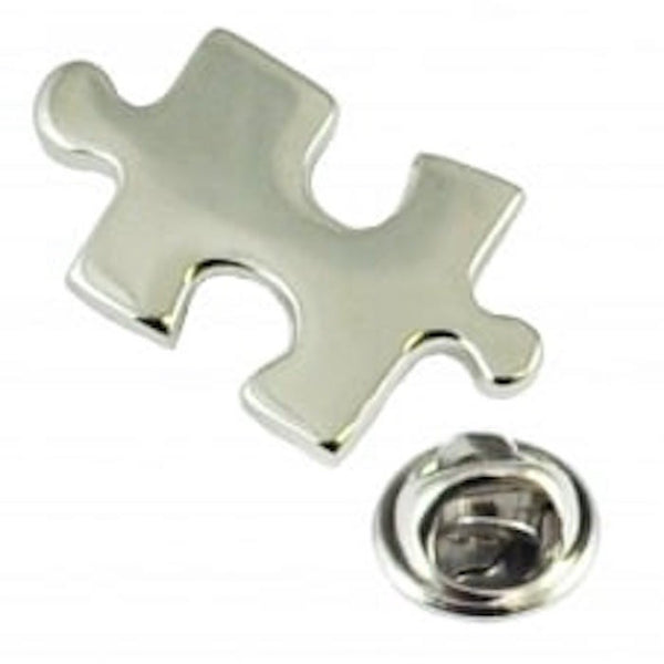 Jigsaw Puzzle Piece Lapel Pin Tack Tie