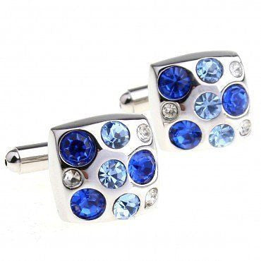 Blue Gem Fashion Cufflinks