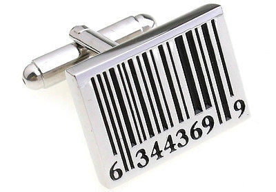 Bar Code Barcode Cufflinks