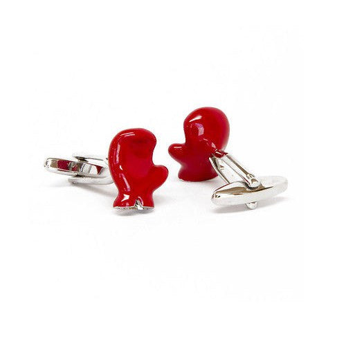 Red Boxing Golve Cufflinks