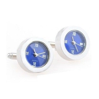 Blue Functional Watch Cufflinks