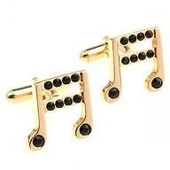 Musical Note Gold Cufflinks