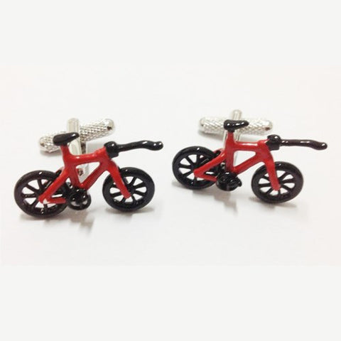 Bicycle BMX Red cufflinks