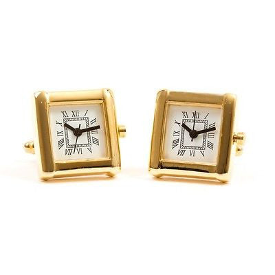 Gold Square Watch Cufflinks