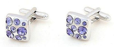 Purple Square Cufflinks