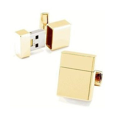 Gold USB 8Gb Cufflinks