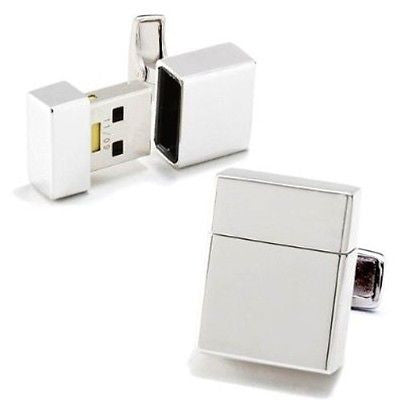 Silver USB 8Gb Cufflinks