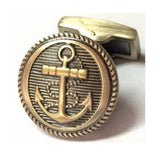 Sail Boat Anchor Gold Vintage Cufflinks