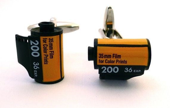 Camera 35mm Film Roll Cufflinks