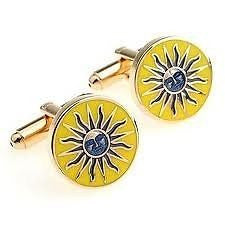 Yellow Sun Cufflinks