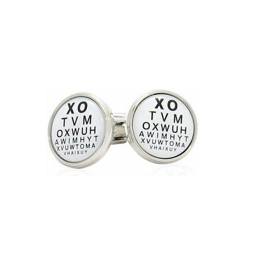 Optometrist Snellen Cufflinks