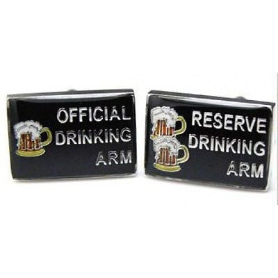 Official Drinking Reserve Arm Cufflinks