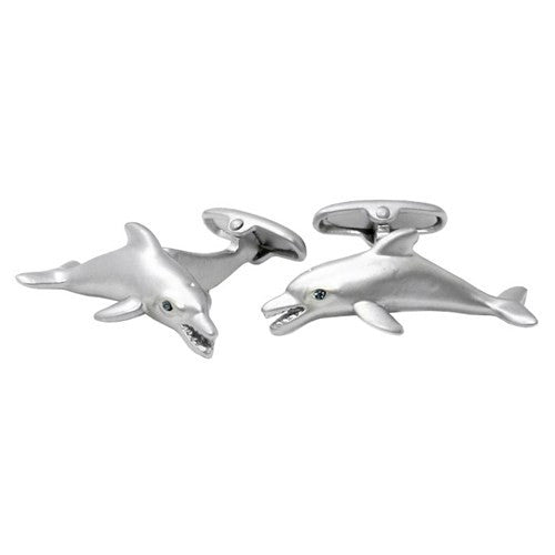 Dolphin Animal Fish Cufflinks Fishermen Water Seaworld Fin