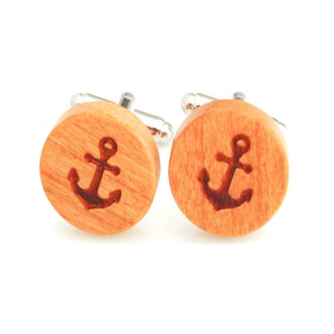 Anchor Wood Cufflinks