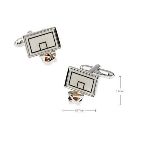 Basketball Hoop Cufflinks