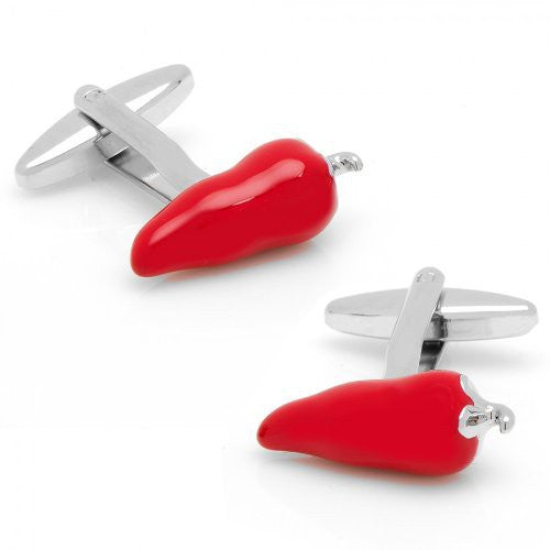 Red Chill Pepper Serrano Cufflinks