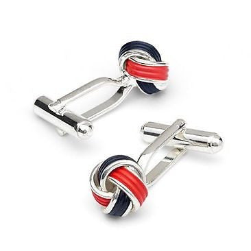 Red And Black Knot Cufflinks