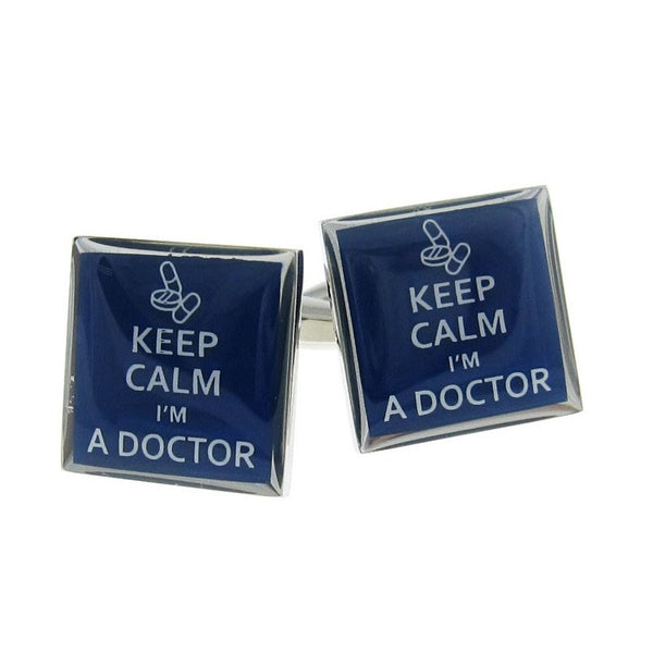 Keep Calm I'M A Doctor Cufflinks