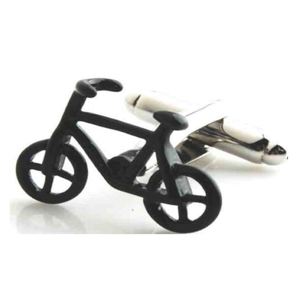 Bicycle BMX Black Cufflinks