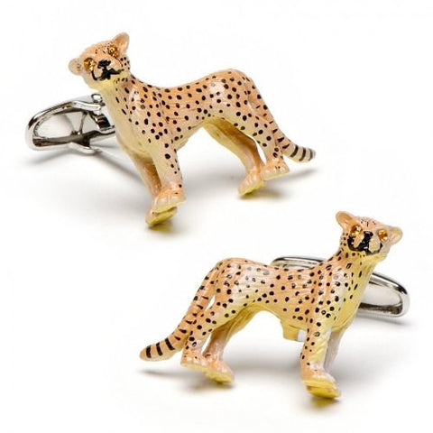 Cheetah Cat Safari Cufflinks