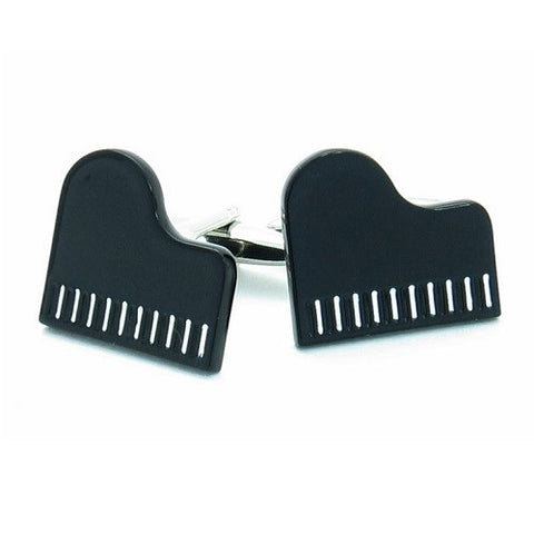 Black Piano Music Cufflinks