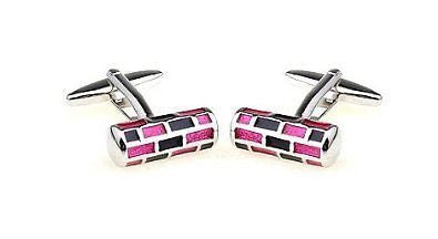 Red And Black Cylinder Cufflinks